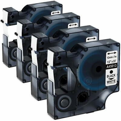 4-pkpack D1 Label Tape 45013 S0720530 For Dymo Labelmanager 160 280 420p