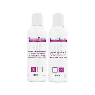 Essential Keratin - Kit Lissage - 2 x 150 ml - Cheveux Abîmés - Sans Formol