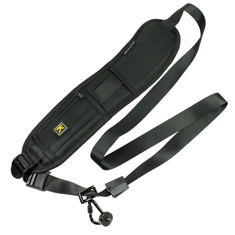 Rapid Camera Neck Strap Shoulder Belt Sling for DSLR Digital SLR Camera Black
