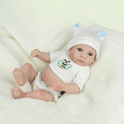 "10""Full Body Vinyl Silicone Baby Boy Dolls Handmade Lifelike Newborn Reborn Gift"