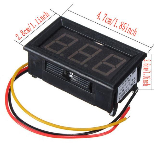 DC 0-99V 3 Wire LED Digital Display Panel Volt Meter Voltmeter - Green SY