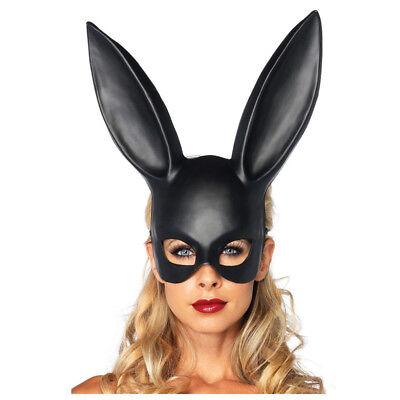 Black Bondage Bunny Rabbit Masquerade Mask Halloween Adult Party Decoration