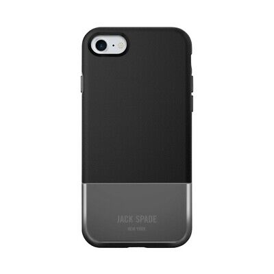 Jack Spade Case Cover for Apple iPhone 7 Graphic Check New York - Grey / Black