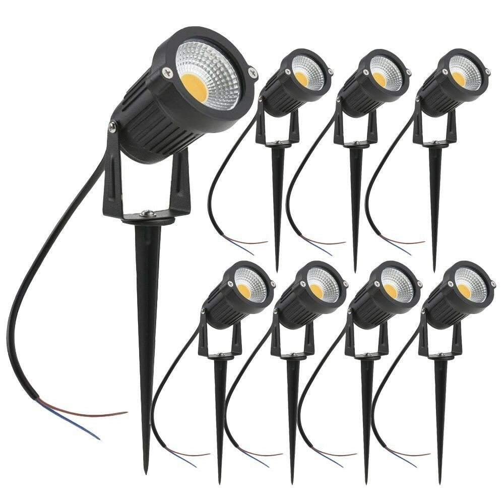 Landscape Lighting Led Kit Outdoor White Low Voltage Garden