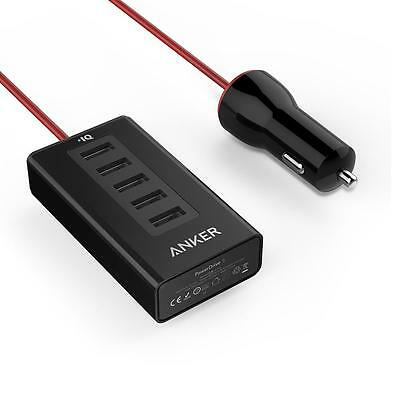 Anker 50W/10A 5-Port USB Car Charger PowerDrive 5 for iPhone 6/6 Plus and more