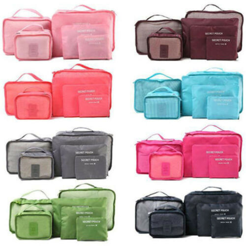6Pcs Travel Storage Bag Set for Clothes Luggage Packing Cube
