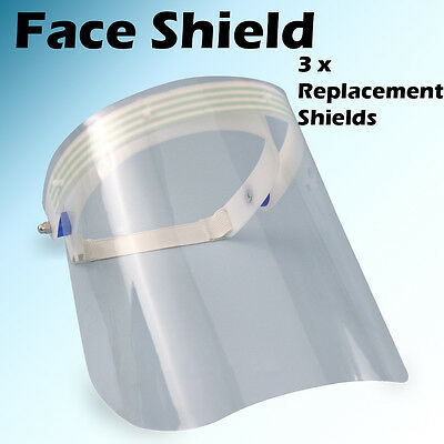 Dental Veterinary Protective Detachable Face Shield Mask Medical W3 Replacement