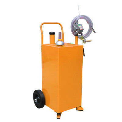 30 Gallon Gas Caddy Tank Storage Drum Gasoline Diesel Fuel Transfer Rotary Pump