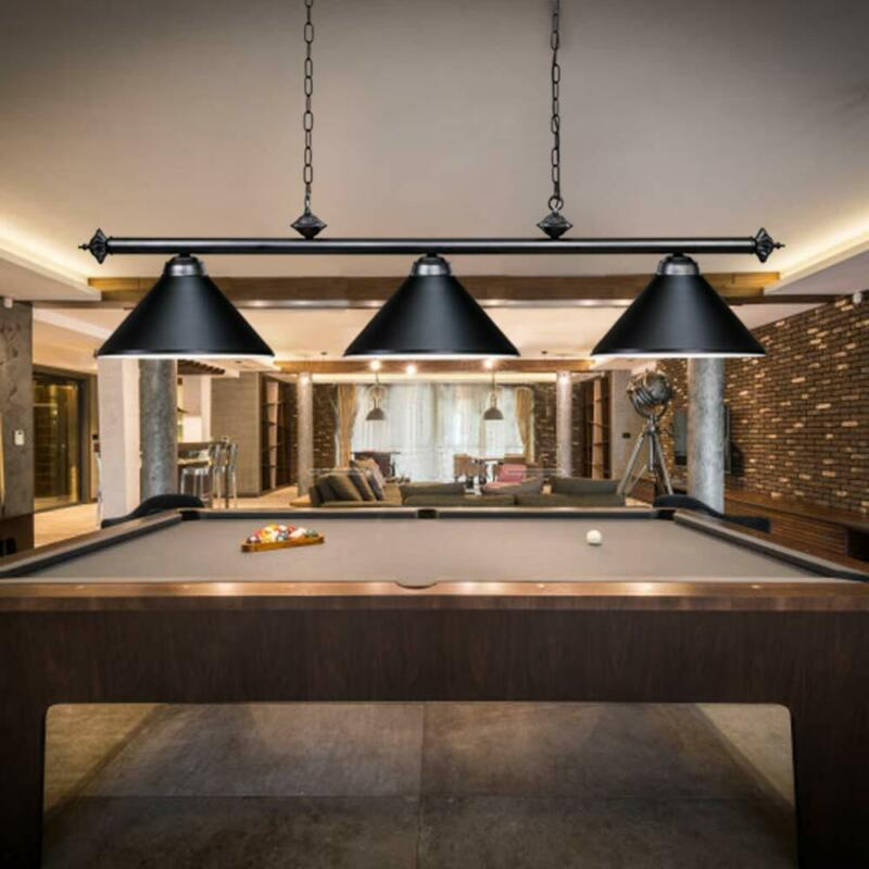 Modern Pool Table Light Billiard 3 Lights Pendant lights Metal Shades Chandelier