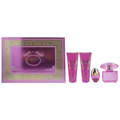 Versace Bright Crystal Absolu Eau de Parfum 90ml, Shower Gel & Body Lotion Set