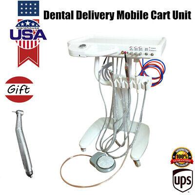 Dental Delivery Unit Mobile Cart Kit Wcuring Lightultrasonic Scalerhandpiece