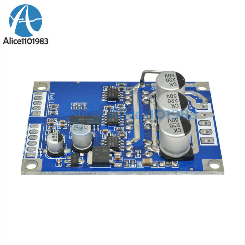 DC12-30V 15A 500W Brushless Motor PWM Balanced Controller with Hall Driver Board