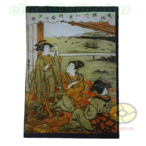 """8""""x6"""" old photograph Japanese Yamato-e Japan Ukiyo-e Geisha Girl Painting Style"""