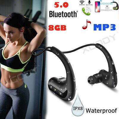 Wasserdichter Musik Kopfhörer MP3 8G für Unterwassersport-Schwimmen Headphone DE (Mp3 Wasserdicht)