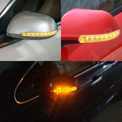 2x 12V Universal Car LED Rear View Mirror Blinker Light Turn Signal Bumper Strip
