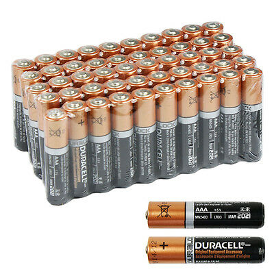 50 PCS Duracell AAA 1.5V Alkaline Batteries w/ Duraloc LR03 AM4 Bulk Exp. 2021  on Rummage