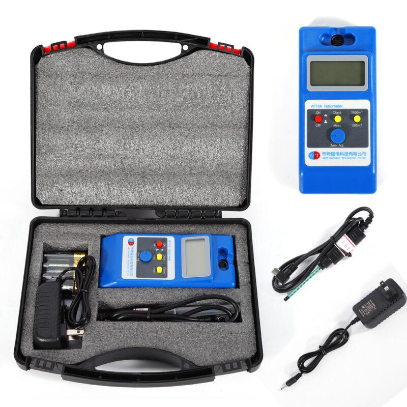 WT10A LCD Tesla Meter Gaussmeter Surface Magnetic Field Tester EMF & Gaussmeters