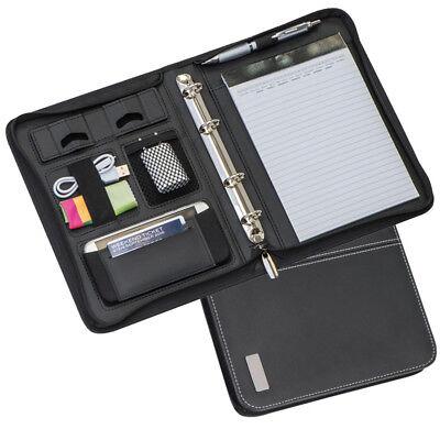 A5 Business Leather Folder Travel Document Organiser Holder Conference Portfolio