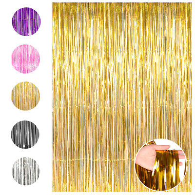 Thanksgiving Party Supplies (Metallic Foil Fringe Curtain Photo Backdrop Christmas Party Thanksgiving)