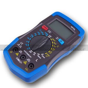 PORTABLE LCR RCL INDUCTANCE CAPACITANCE RESISTANCE METER TESTER W/Leads