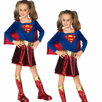 Supergirl Kinder Deluxe Kostüm Superheld Mädchen Kostüm Outfit World Book - Deluxe Supergirl Kind Kostüm