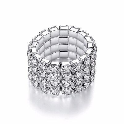 ibel dehnbar elastisch mit funkelnden Steinen elegant cool (Dehnbare Ringe)