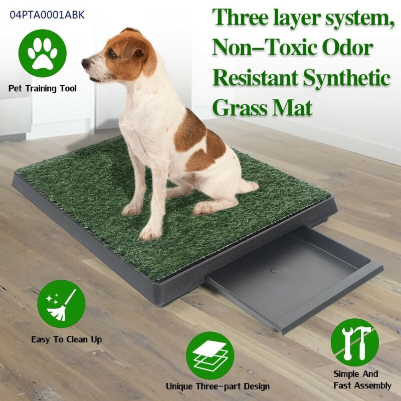 Pet Potty Three Layer Dog Toilet Training Pad Park Mat With Drawer Green