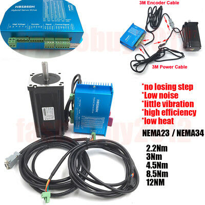 Closed Loop Stepper Motorhybrid Servo Drive Kit Nema3423 12nm 8.5nm 4.5nm 3nm