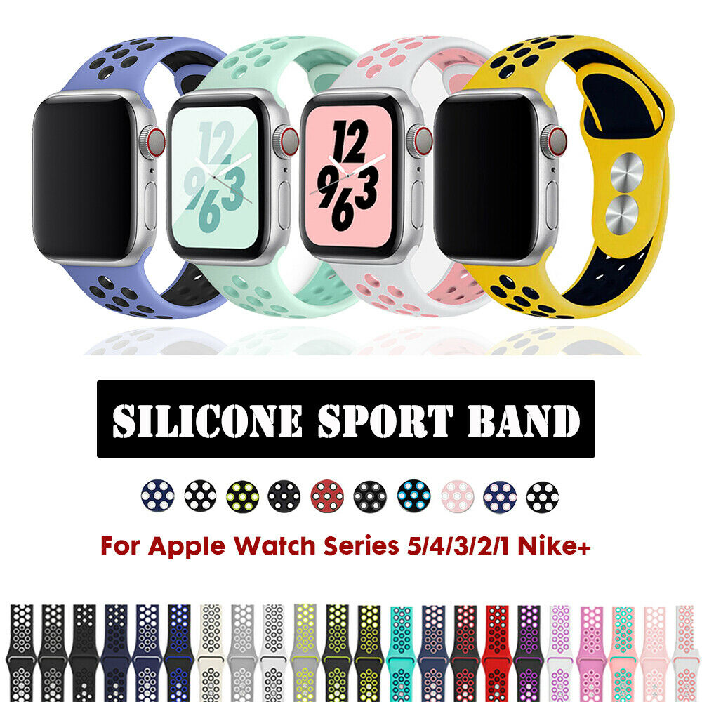 Silicone Sports iWatch Band Strap for Apple Watch Series 5 4