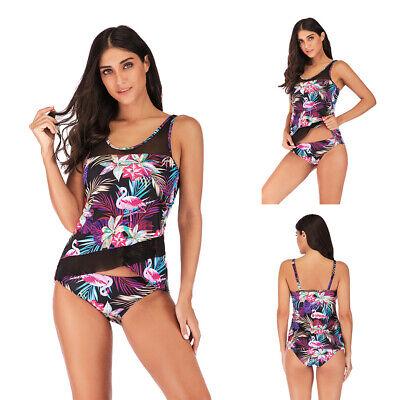 Flamingo Damen Form Badeanzug Shaping Shapewear Bauchweg Push-Up Neckholder Neu