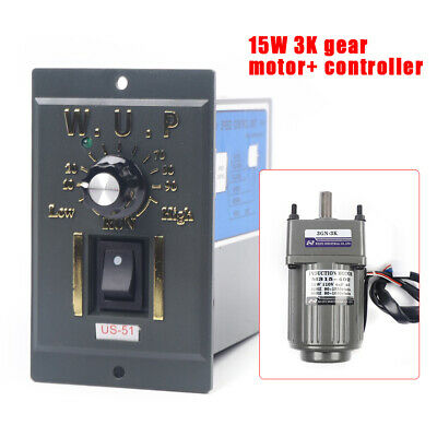 Ac 110v Gear Motor Electric Motor Variable Speed Controller 13 450rpm Profi Usa