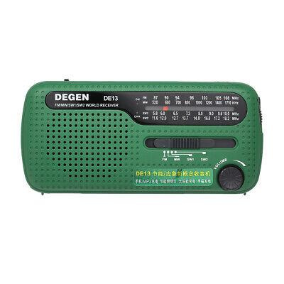 Solar Hand Crank Radio Portable Emergency AM/FM  Flashlight