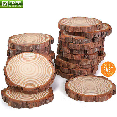 Natural Wood Slices 20 Pcs 3-4 Inch For Centerpieces Crafts Ornaments Wooden DIY - Diy Wood Crafts