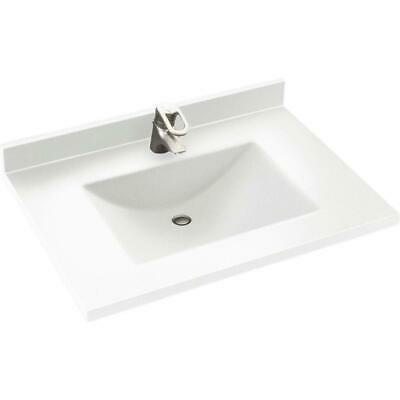 Swanstone 25W x 22D in. Contour Solid Surface Vanity Top