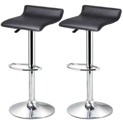 black leather kitchen breakfast swivel oblate bar stools pub pu chairs