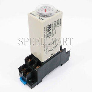 DC 12V H3Y-2 Power On Time Relay Delay Timer 0~60 Second DPDT & Base Socket NEW
