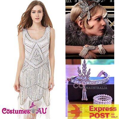 Ladies Deluxe 20s Roaring 1920s Flapper Costume Sequin - Roaring 20s Kleid