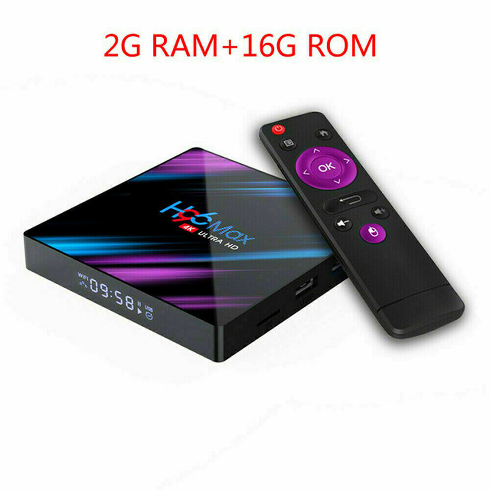 H96 Max Android 9.0 Quad Core 4K HD TV BOX 2GB+16GB Media Player WiFi / x96 mini 1