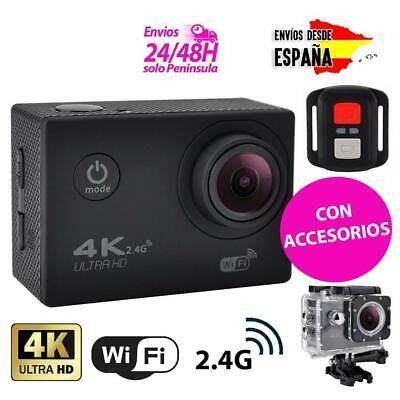 Camara deportiva 4K wifi con accesorios sumergible acuatica foto y video
