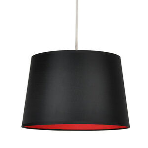 round black red ceiling pendant light lamp shade lampshade lights. Black Bedroom Furniture Sets. Home Design Ideas