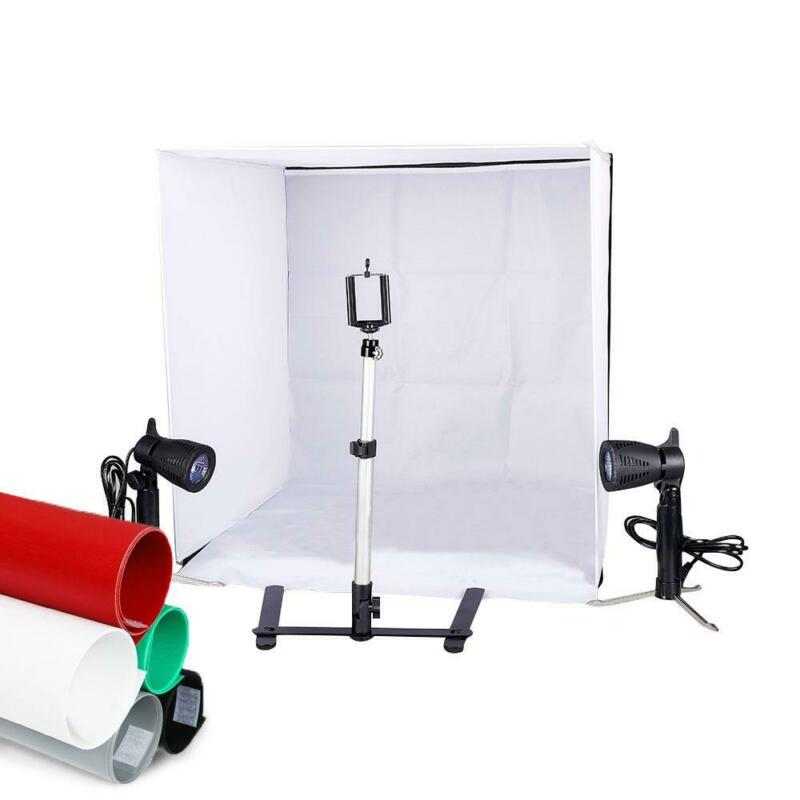 "Photo Studio 24"" Photography Lighting Tent Kit Backdrop Cube In A Box Mini Stand"