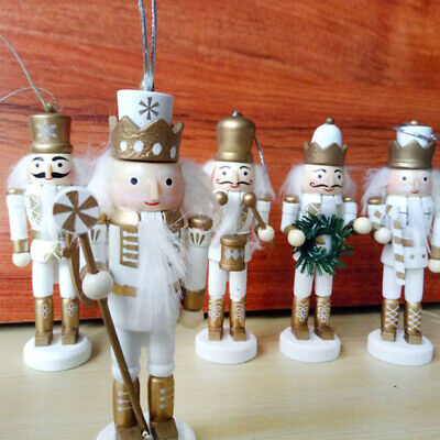5pcs Puppet Toy Wooden Christmas Soldier Nutcracker Creative Puppet Toy for Kids ()