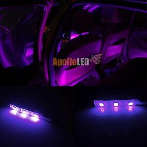 2pcs 12v Purple 5050 Smd Led Car Interior Exterior Use High Quality Strip Light