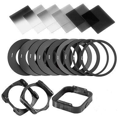 Complete Neutral Density ND2 4 8 Square filter kit +filter holder for Cokin P