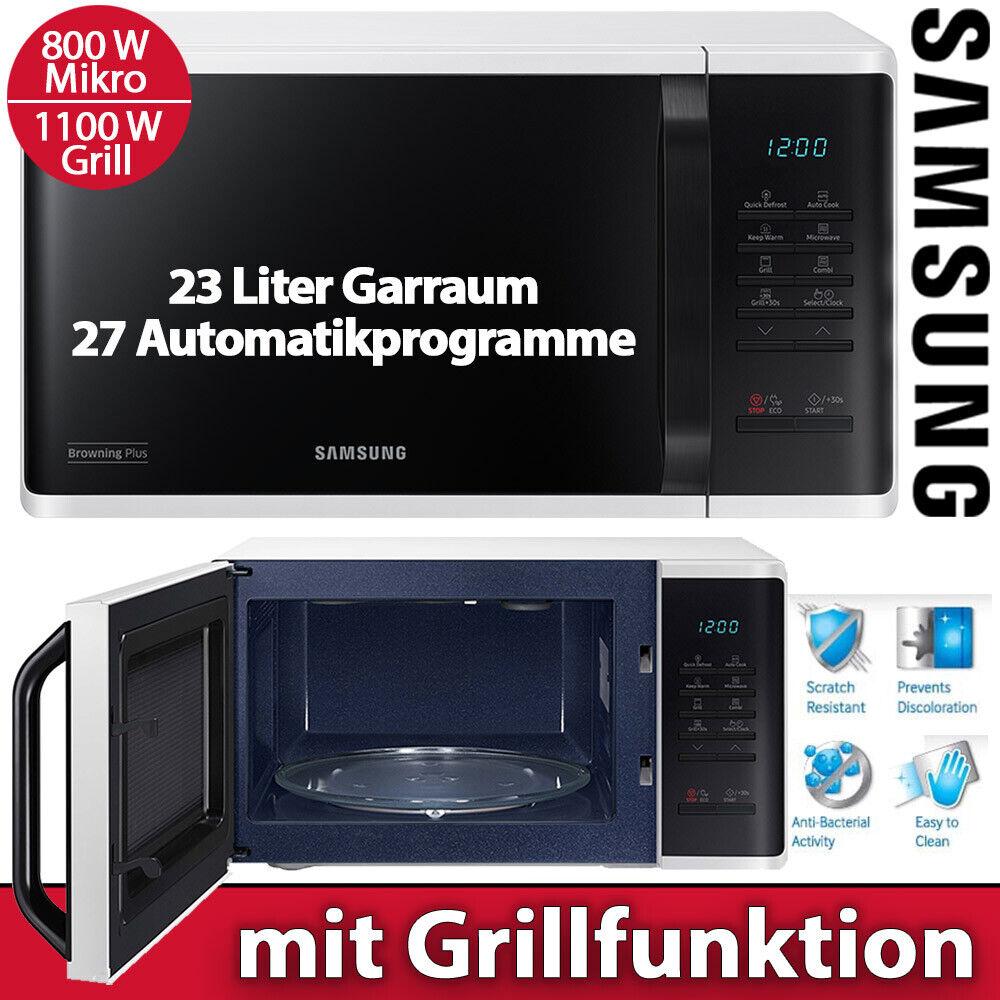 Samsung Mikrowelle Grill Mikro 800 W Kindersicherung Uhr 23 L weiß schwarz NEU