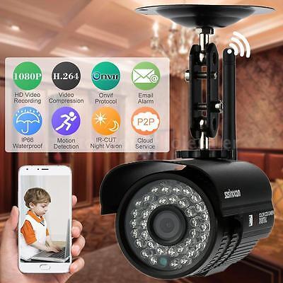 1080P HD IP Kamera 2.0MP ONVIF WLAN Wireless IR Nacht Outdoor Netzwerk Kamera DE