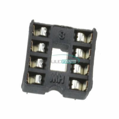50pcs Dip8 Integrated Circuit 8pin Dip Pitch Ic Sockets Adaptor Solder Type