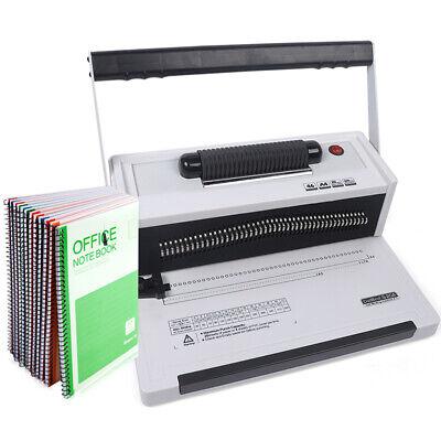 Plastic Spiral Coil Insert Binding Machine 46 Holes Binder Notebook Maker 110v
