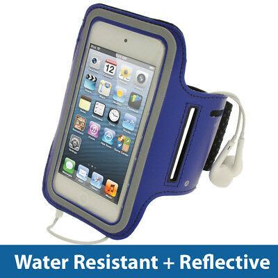 Blue Anti-Slip Sports Armband for Apple iPod Touch 6th 5th Generation itouch -