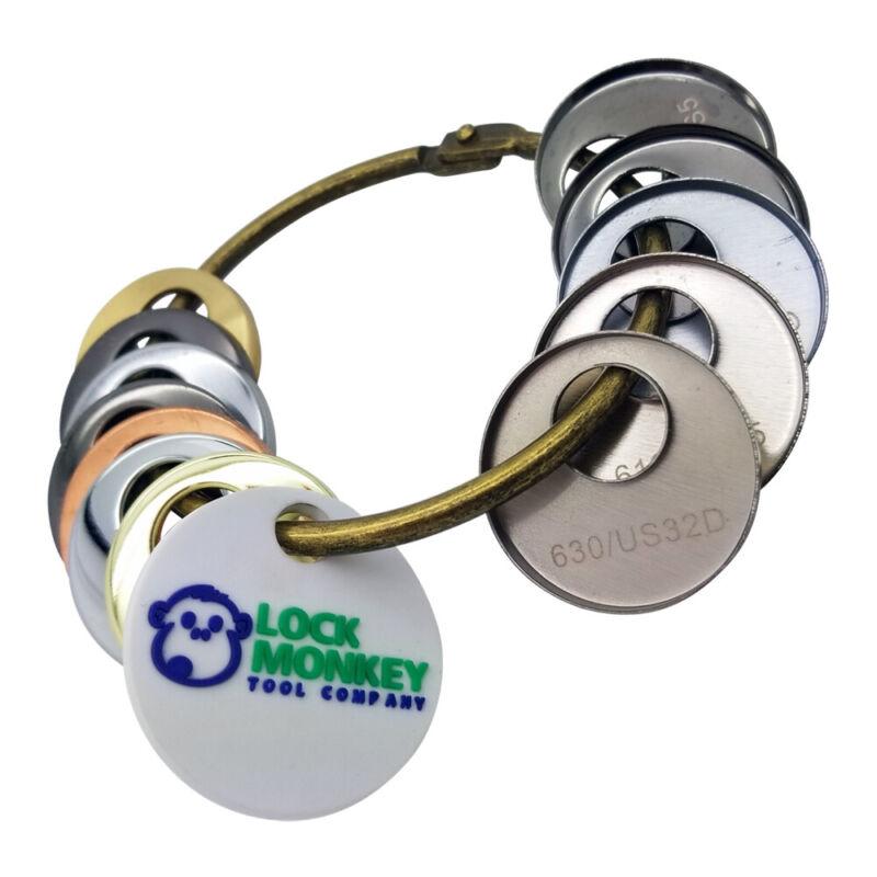 LOCK MONKEY MK350 Lock Hardware Finish Ring (12-Pc Sample Pack)